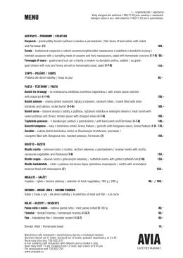 Stáhnout AVIA menu
