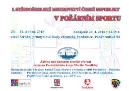 20. – 21. dubna 2016 - Sdružení hasičů Čech, Moravy a Slezska