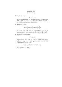 2. domácı úkol (do 8. 4. 2016) 1. Dokazte, ze rovnice y3 + exy = x