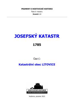 Josefský katastr – část C: Katastrální obec Litovice