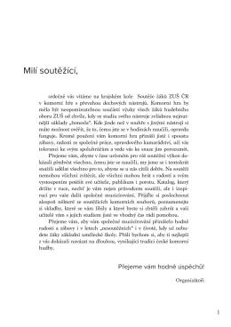 Katalog soutěže - ZUŠ Taussigova
