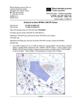 VFR-SUP 08/16 - Letecká informační služba