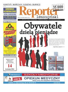 nr bieżący - reporter leszczynski