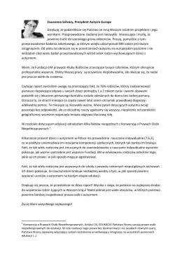 Zsuzsanna Szilvasy, Prezydent Autyzm