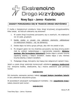 Nowy Sącz – Jamna - Kozieniec