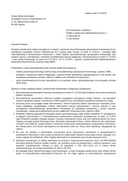 EuCO_311214_ Oświadczenie Zarządu_SSF
