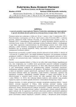 Opinia PROP-14-22 - Państwowa Rada Ochrony Przyrody