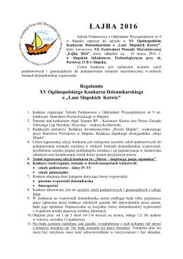 łajba 2014 - Szkoła Podstawowa nr 9 w Słupsku