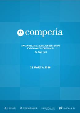 Sprawozdanie Zarzadu Grupa Comperia 2015