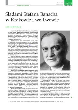 Śladami Stefana Banacha w Krakowie i we Lwowie