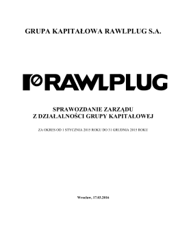 Sprawozdanie Zarzadu SA-RS Grupa Rawlplug