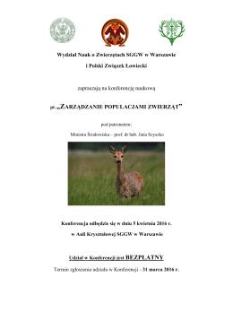 Wydział Nauk o Zwierzętach SGGW w Warszawie i Polski Związek