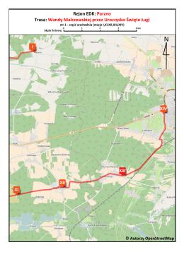 Rejon EDK: Parzno Trasa: Wandy Malczewskiej przez Uroczysko