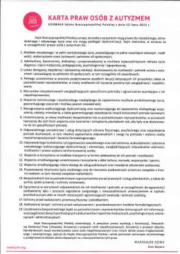 karta praw osob z autyzmem