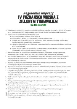 regulaminu - Klub Miłośników Pojazdów Szynowych w Poznaniu