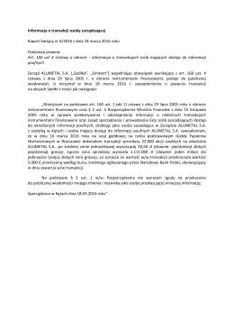 Art. 160 ust - Alumetal SA