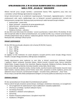 Zebranie sprawozdawcze Koła PZW Bajkał Brzozów