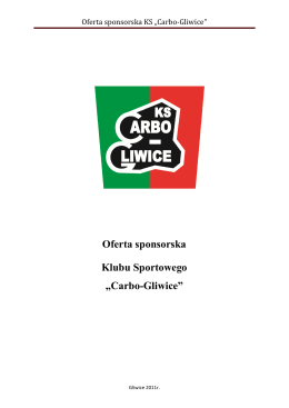 "Oferta sponsorska KS ""Carbo"