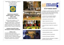 informacja dla kandydatów - Zespół Szkół nr 1 w Milanówku