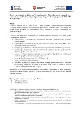 Zał. 5 Zasady wprowadzania projektów do Wykazu Projektów