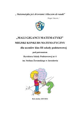 Matematyka jest drzwiami i kluczem do nauki