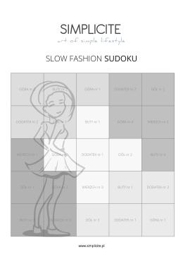 slow fashion sudoku