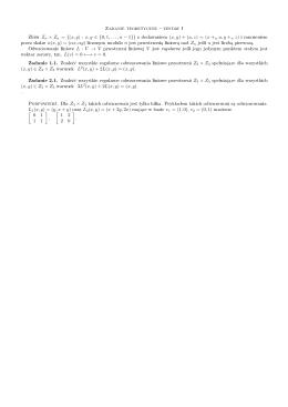 Zadanie teoretyczne zestaw I