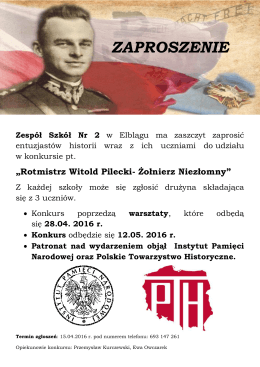zaproszenie - Instytut Pamięci Narodowej