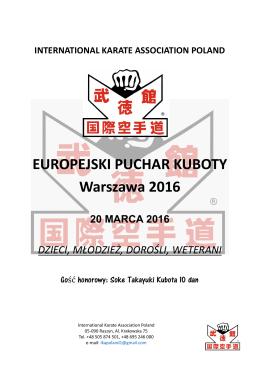 EUROPEJSKI PUCHAR KUBOTY Warszawa 2016 - karate