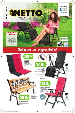 Relaks w ogrodzie!