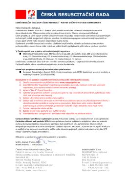 Pokyny k vyplnění dotazníku