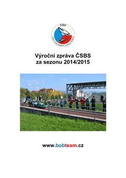 Výroční zpráva k sezóně 2014/2015