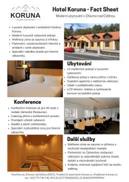 Firemní nabídka: Hotel Koruna Chlumec nad Cidlinou