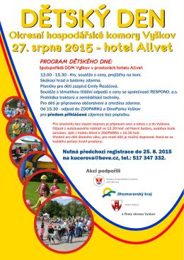 27. srpna 2015 - hotel Allvet - Okresní hospodářská komora Vyškov