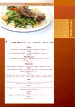 Týdenní menu 16. 11. – 20. 11. 2015