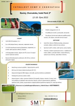 Rovinj, Chorvatsko, hotel Park 3* 12