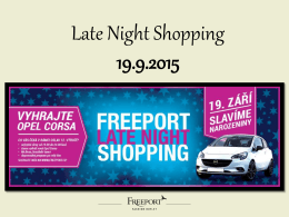 Late Night Shopping 19.9.2015