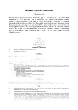 SHT_Protinávrh akcionáře_informace pro akcionáře