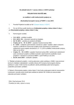 Text vyhlášení soutěže pro rok 2016