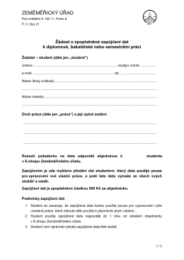 Žádosti o zapůjčení dat - Český úřad zeměměřický a katastrální