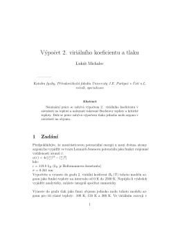 výpočet 2. viriálního koeficientu