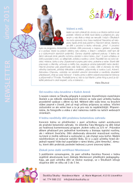 NEWSLETTER únor 2015