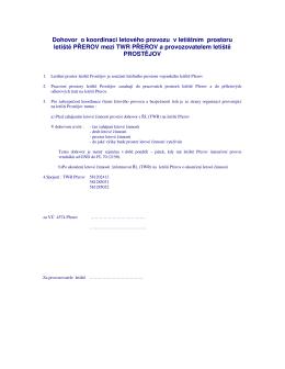 Dohovor o koordinaci letového provozu v letištním prostoru letiště