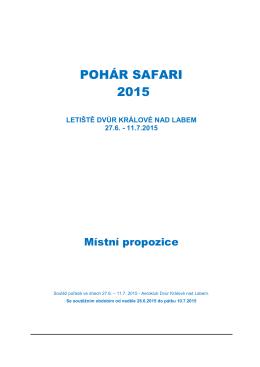 propozice safari 2015