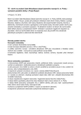 návrh na zrušení části Aktualizace zásad územního rozvoje hl. m