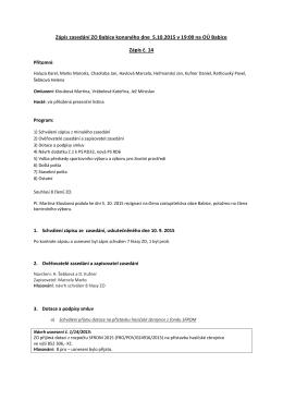 Zápis ze zasedání ZO dne 5.10.2015