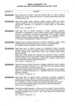 Výpis z usnesení č. 18