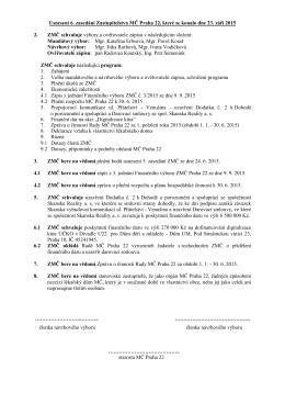 Usneseni 6 ZMC dne 23.9.2015