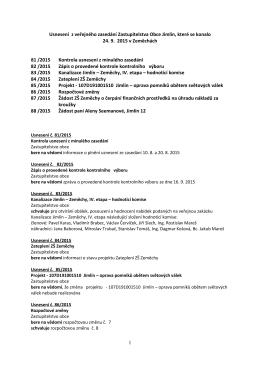 Usnesení 81 - 88 ze dne 24.9.2015