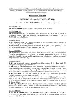 Usnesení ze 5.schůze RM-19.01.2015